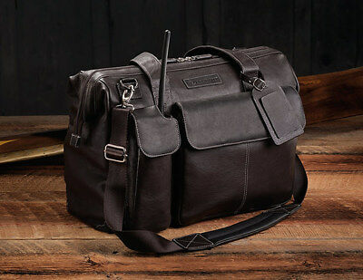 LIGHTSPEED AVIATION ADVENTURE FLIGHT BAG in LEATHER: model THE GANN Aviation Flight Bags