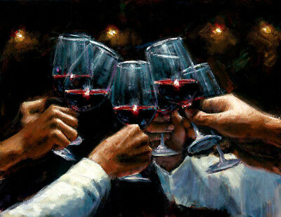 Celebrating for a better life Oil painting Giclee Art printed on canvas