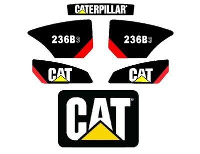 Cat 236b-3 Decals Stickers Kit Skidsteer Loader Full Set Emblem Caterpillar B3