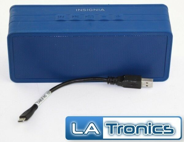 Insignia Portable Bluetooth Stereo Speaker with Powerbank NS-SPBTBRICK-SB Tested