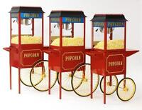 POPCORN, COTTON CANDY SNOKONE MACHINES $49 to $79 per day