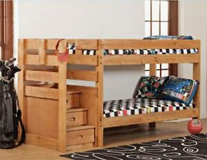 Bunk Bed Ponderosa with stairs and drawers Super Safe