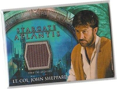 Stargate Atlantis Seasons 3 & 4 - Lt Col John Sheppard Waistcoat Costume Card