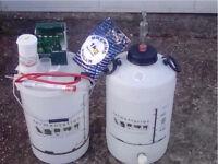 HOME WINE & BEER MAKING EQUIPMENT. BUCKET BARREL SUGAR HYDROMETER ETC...