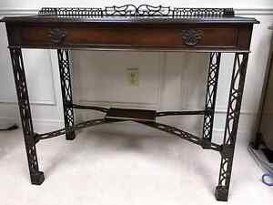 Antique Decorated Desk with Drawer