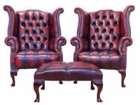 **WANTED** CHESTERFIELD ANY CONDITION SOFA CLUB CHAIRS WINGBACKS FOOTSTOOL collect for CASH £££