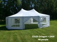 Event Tent Rentals, tables, chairs, dance floor