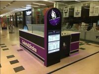 Kiosk for ice cream, gelato, hot cold drink business