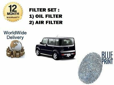 FOR NISSAN CUBE 2003-2007 1.4 OIL AIR FILTER SERVICE KIT ( 2 )