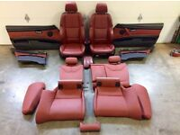 2007-2013 BMW e92 M3 RED LEATHER SEATs complete interior call now