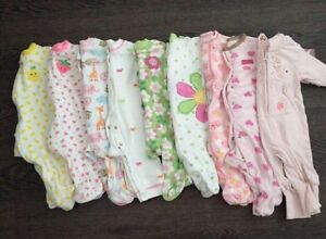 Baby girl 0-3 month sleeper lot