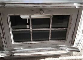 Distressed Solid Wood TV Cabinet/Coffee Table