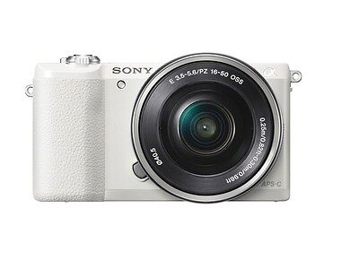 Sony a5100 24.3 MP Digital Camera Kit w/ E PZ OSS 16-50mm Lens - White