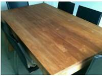 DINING TABLE & CHAIRS CHUNKY SOLID OAK