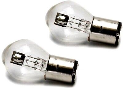 PAIR 12V 35/35W High Low Beam Round Style Bulb Moped GY6 Scooter BA20D I BB06