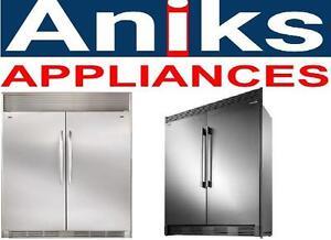 Frigidaire Gallery FGRU19F6QF-FGFU19F6QF 64in Counter-Depth Side-By-Side All-Refrigerator All Freezer 37.2 Cu.Ft.,