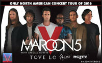 Maroon 5, Vendredi 23/09/16, Centre Bell, Parterre, Rouge, Blanc