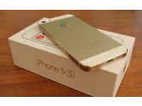 iPhone 5s Gold with box and accessories