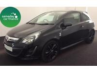 ONLY £162.64 PER MONTH BLACK 2014 VAUXHALL CORSA 1.2 VVT LTD EDITION 3 DOOR