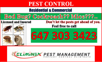 ELIMINEX PEST MANAGEMENT 416 845 4362/647 303 3423