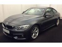 Grey BMW 430d M Sport Coupe Auto 258BHP 2015 FROM £103 PER WEEK!