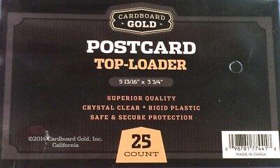 Pack / 25 CBG 5.875 x 3.75 Rigid Hard Plastic Postcard Topload Holders protector