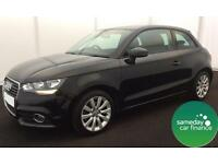 £219.93 PER MONTH BLACK 2014 AUDI A1 1.6 TDI SPORT 3 DOOR DIESEL MANUAL