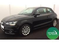 £226.39 PER MONTH BLACK 2014 AUDI A1 1.6 TDI SPORT 3 DOOR DIESEL MANUAL