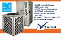 HIGH EFFICIENCY AIR CONDITIONER - FURNACE -$0 DOWN - FREE INSTAL