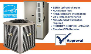 Furnace - Air Conditioner - Rent to Own - Approval Guaranteed !