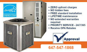 Furnace - Air Conditioner - Rent To Own.- $0 Down.
