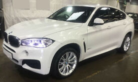 White BMW X6 3.0TD Steptronic 2017 xDrive30d M Sport FROM £175 PER WEEK!