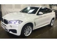 White BMW X6 3.0TD Steptronic 2017 xDrive30d M Sport FROM £175 PER WEEK!