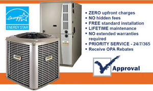 New High Efficiency Air Conditioner Furnace NO CREDIT CHECK