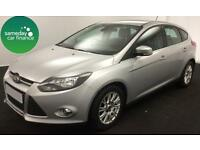 £155.10 PER MONTH SILVER 2011 FORD FOCUS 1.6 TITANIUM 5 DOOR PETROL MANUAL