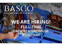 Full-Time Driver and Warehouse Assistant ǀ Fine Fod Wholesaler ǀ Basco Fine Foods ǀ West Yorkshire
