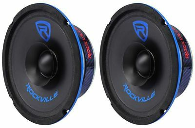 (2) Rockville RM64SP CEA Compliant 6.5� 240W Mid-Range Car Speakers 4 Ohm