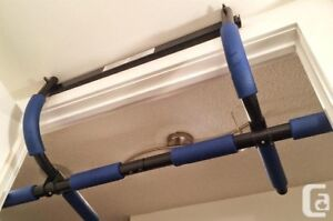 Over the door chin up bar and add on