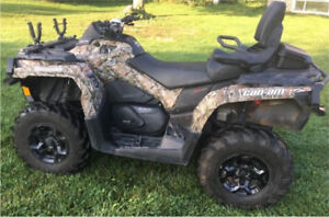 2013 Canam Outlander 650 MAX XT and snow plow