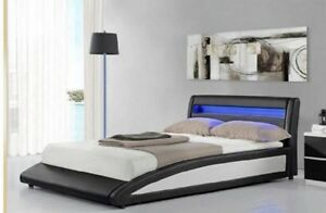 $$SALE BRAND NEW LED Luminous Bed Frame Double Queen King Size
