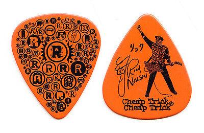 Cheap Trick Rick Nielsen Orange R's (Large Logo) Guitar Pick - 2010 Tour