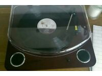 ION record player and vinyl