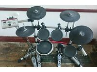 Yamaha DTXPress Special IV electronic drum kit / electric drums, w/ double bass pedal + hi-hat stand
