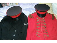 Ladies Military Jackets 'Size 10' with Royal Artillery Peaked caps (Unisex) ... £25