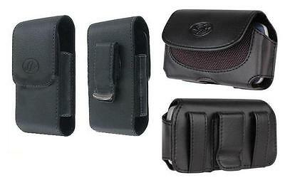 2x Leather Case Belt Holster Pouch For Boost Mobile/cricket Kyocera Hydro C5170
