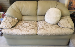 Fabric and Leather 2 seater couch FREE