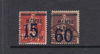 MEMEL MI NR 34 35 GESTEMPELT