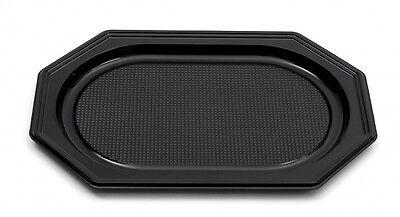 chwarz, 550 x 360 x 30 mm, Partyplatten Servierplatten (Catering-trays)
