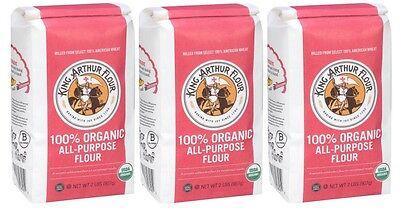 King Arthur Organic All Purpose Flour 3 Bags 2lbs Each Kosher Kosher Organic Flour