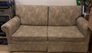 Pull out couch, double bed